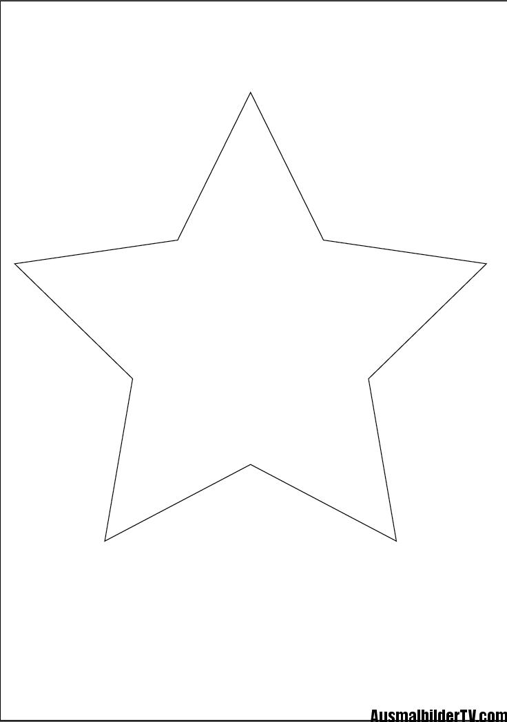 Stern malvorlage Sterne zum ausdrucken Vorlage stern