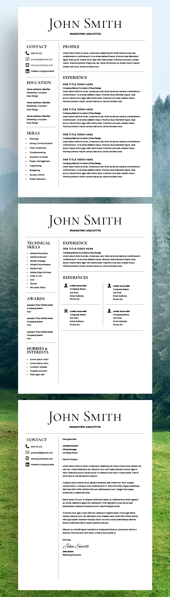 Resume Template   CV Template   Free Cover Letter   MS Word On Mac / PC