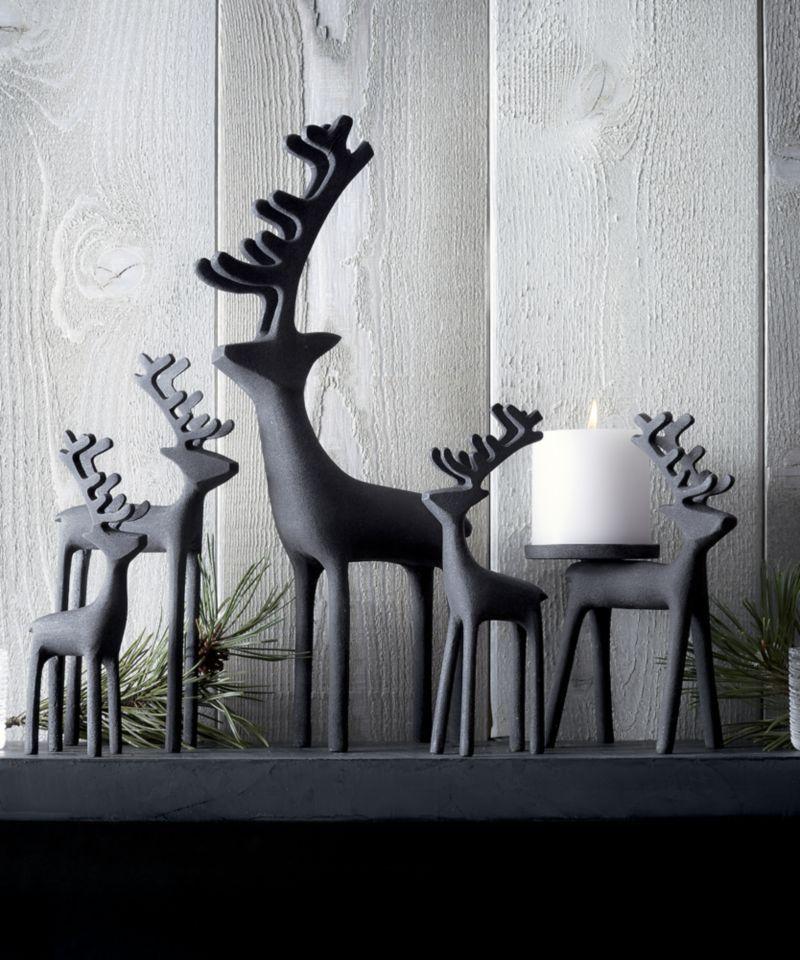 Photo of 21″ Zinc Reindeer + Reviews | Crate and Barrel