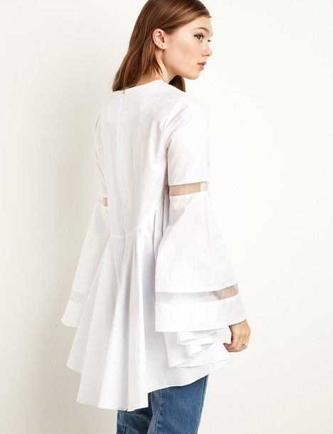 White Tops with Sleeves