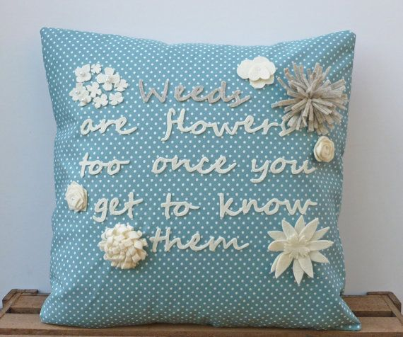 Inspirational Quote Pillow Cushion Decorative by WhileLokiDreams, £30.00