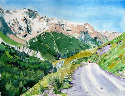Vallon Des Hieres Et Les Ecrins Hautes Alpes Aquarelle Alpes