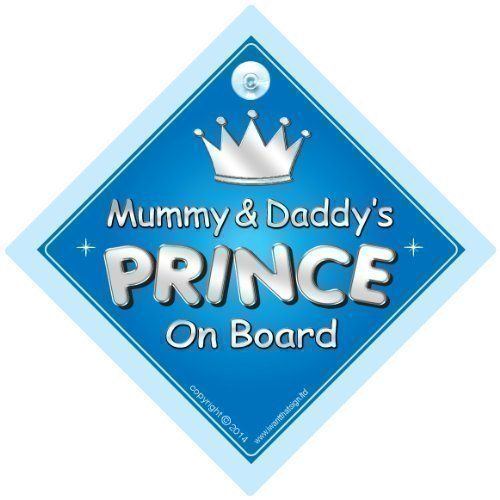 Humorous Personalised Child/baby On Board Car Sign ~ Our Princess On Board ~ Pink Easy To Use Other Baby Safety & Health Baby