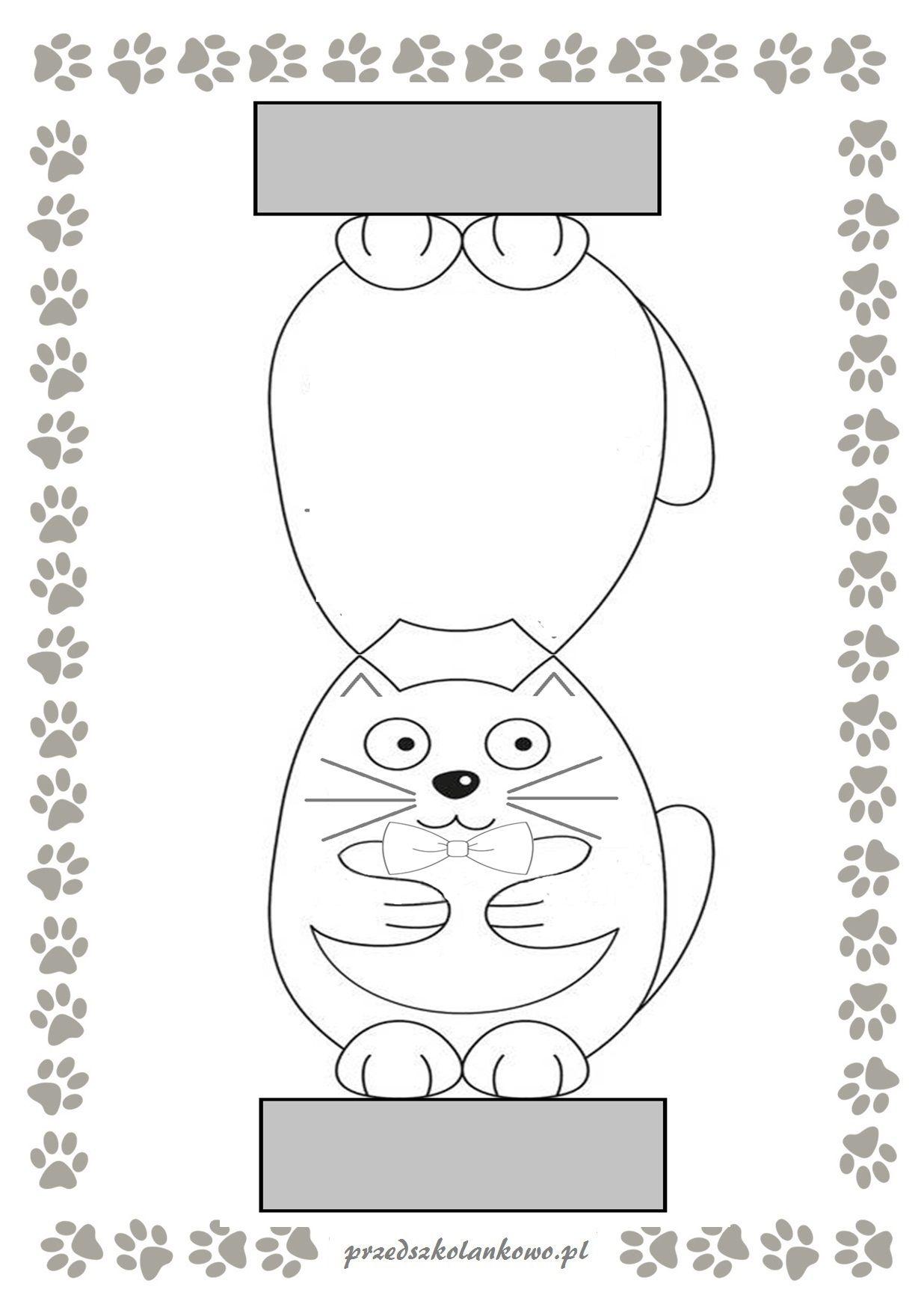 Koty Z Papieru Przedszkolankowo Symbols Letters Education