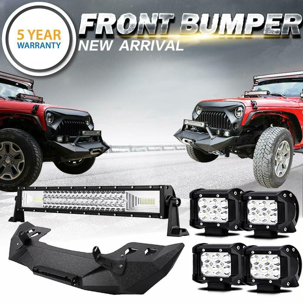 Ad Ebay For Jeep Wrangler Jk Full Width Front Bumper Led Light