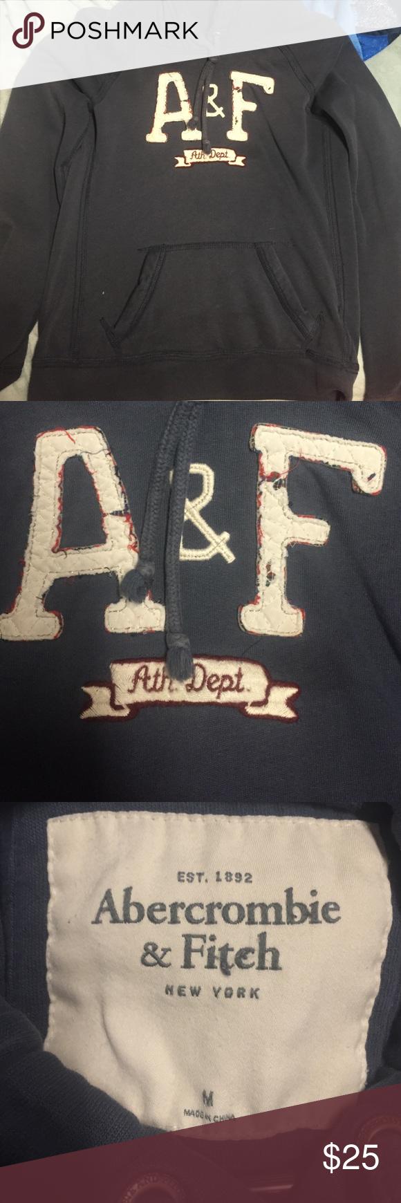 Abercrombie & Fitch Sweater Dark Blue, Medium, Hardly worn Abercrombie & Fitch Tops Sweatshirts & Hoodies