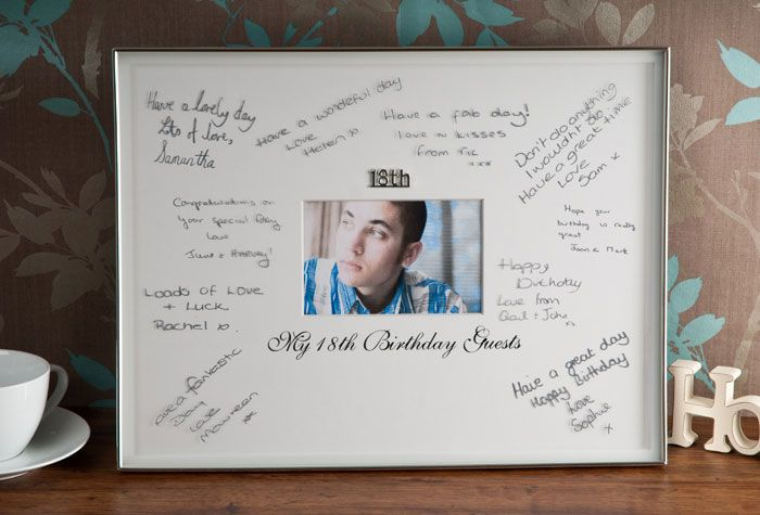 18th birthday signature frame