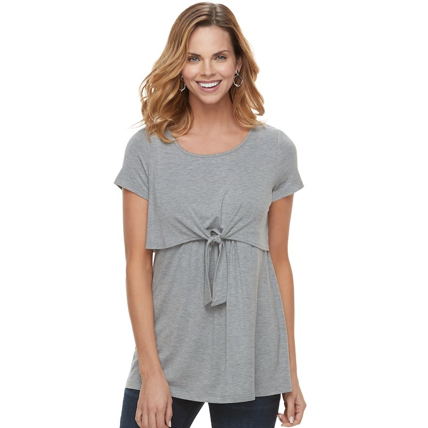 6b1c85594f398 Maternity a:glow Tie Accent Popover Nursing Tee   Products   Tees ...