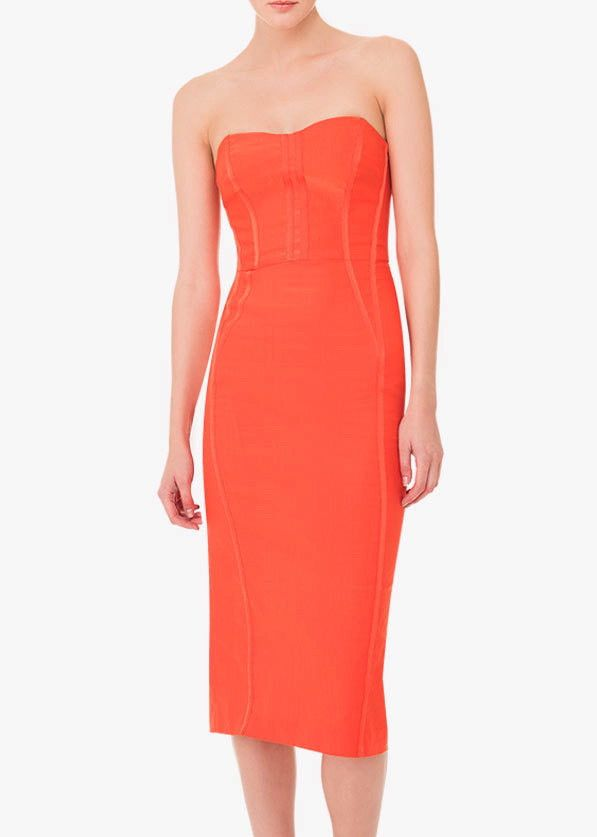 d481986b505 Veronica Beard maui strapless bustier dress red – Elizabeth Charles ...