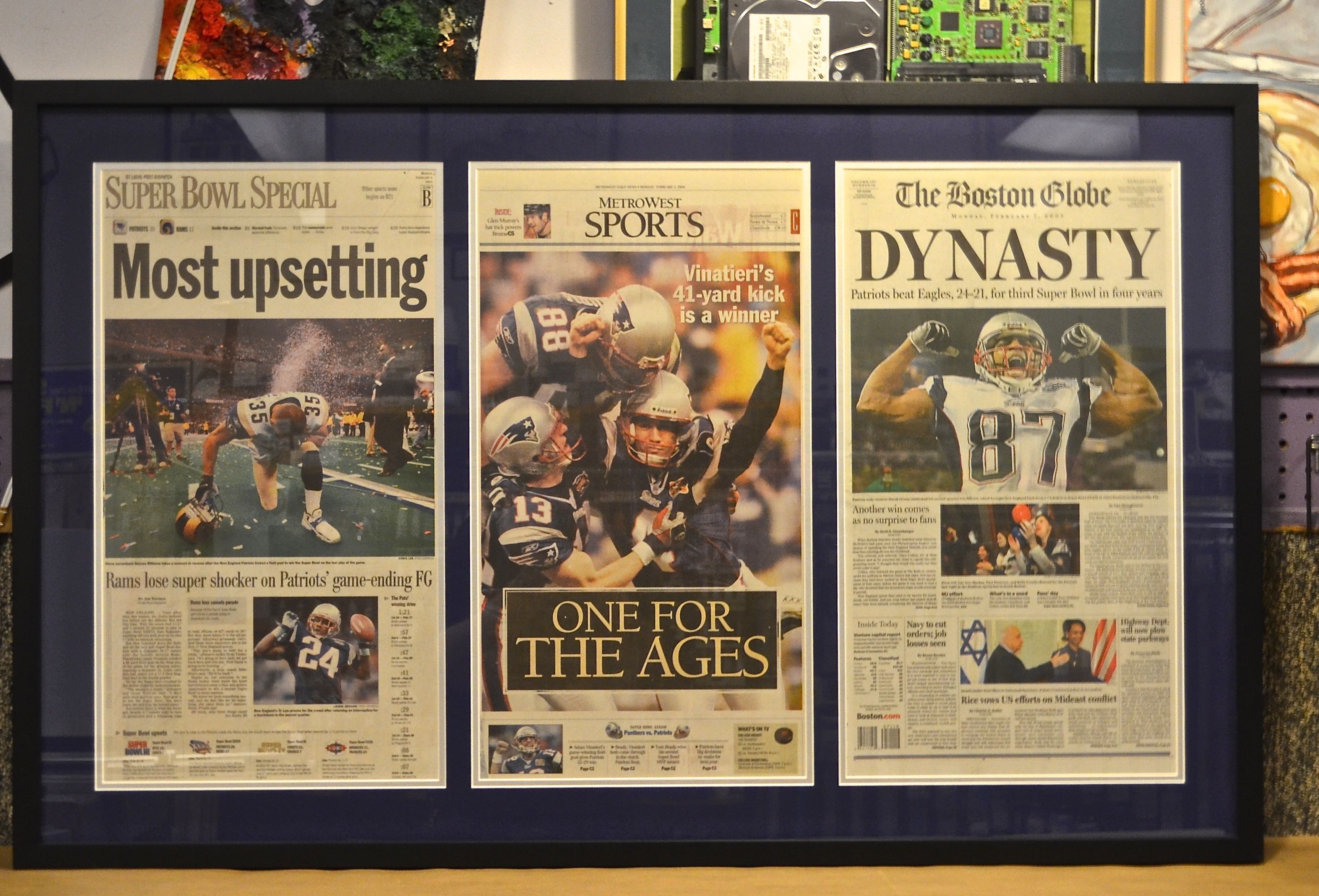 Pat's winning seasons newspaper articles. Newspaper