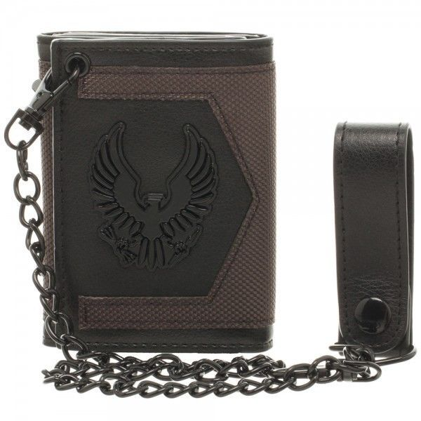 Halo 5 Video Game Tri Fold Chain Wallet Officially Licensed Bioworld Eagle Logo Bioworld Trifold Halo 5 Wallet Chain Wallet