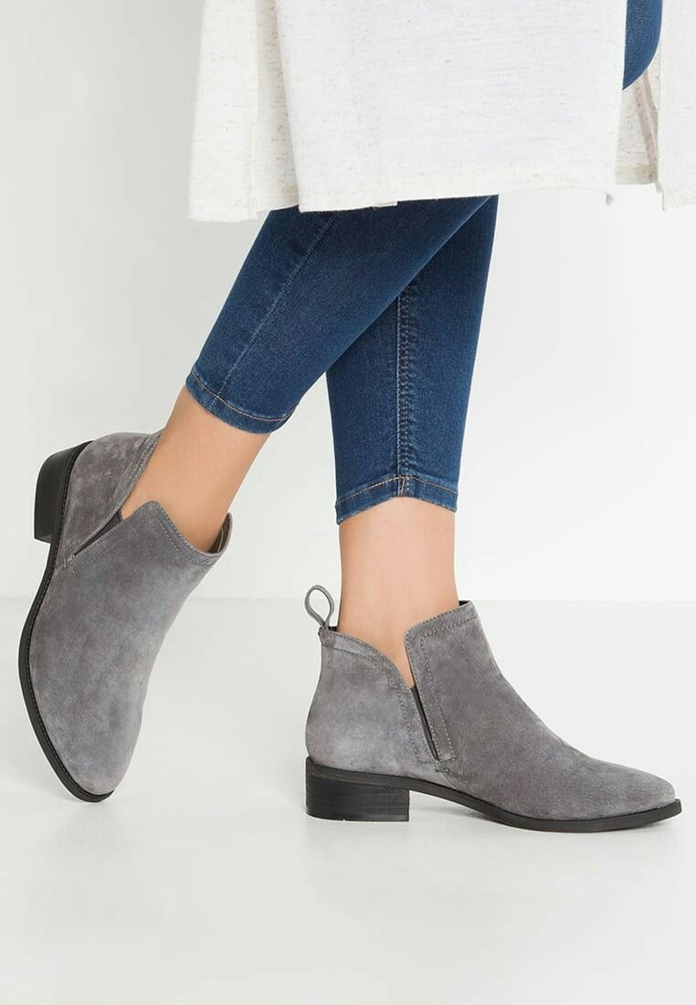 Pier One Ankle boots - pewter for with free delivery at Zalando