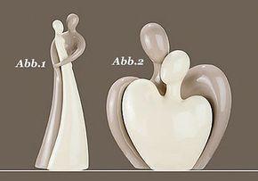 Details zu Gilde Skulptur rund mit Paar *Freunde im Kreis