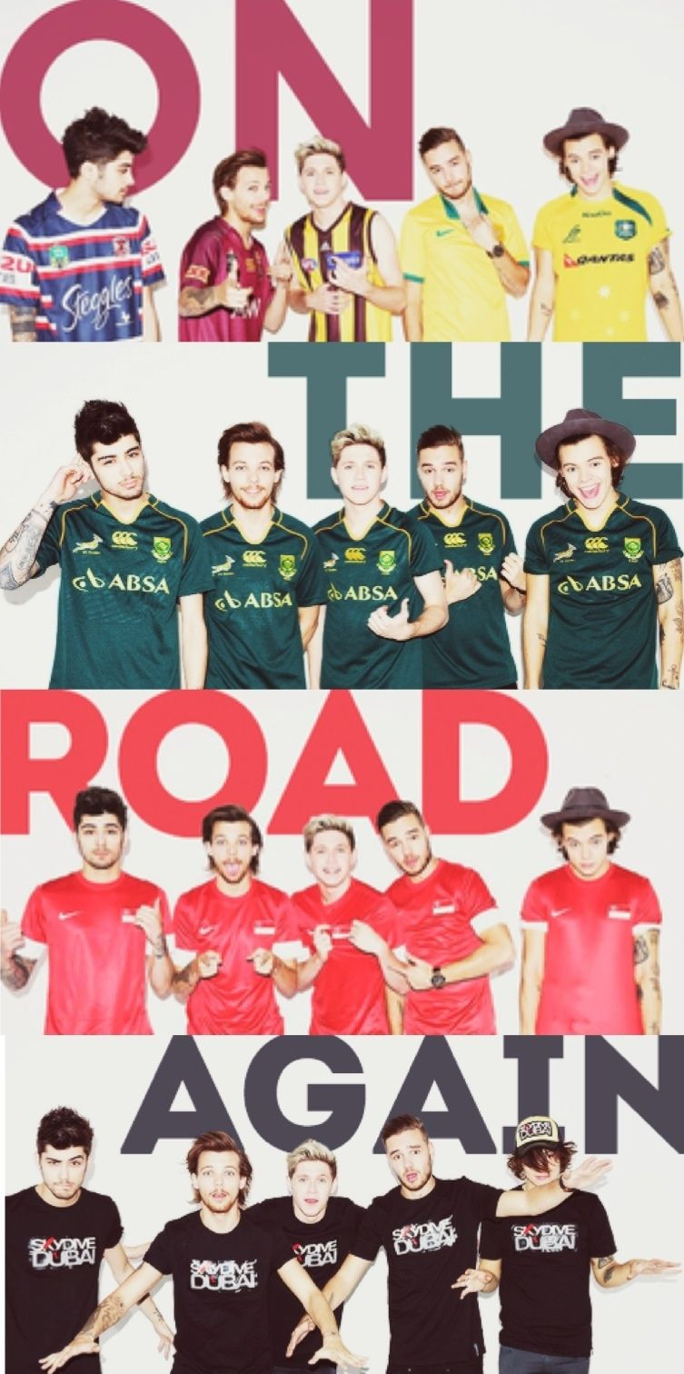 One Direction On The Road Again Tour promo pictures. I found these pics on One Direction club on fanpop and I decided to create a collage out of them. Good idea right? I wish I could crop it on the app.