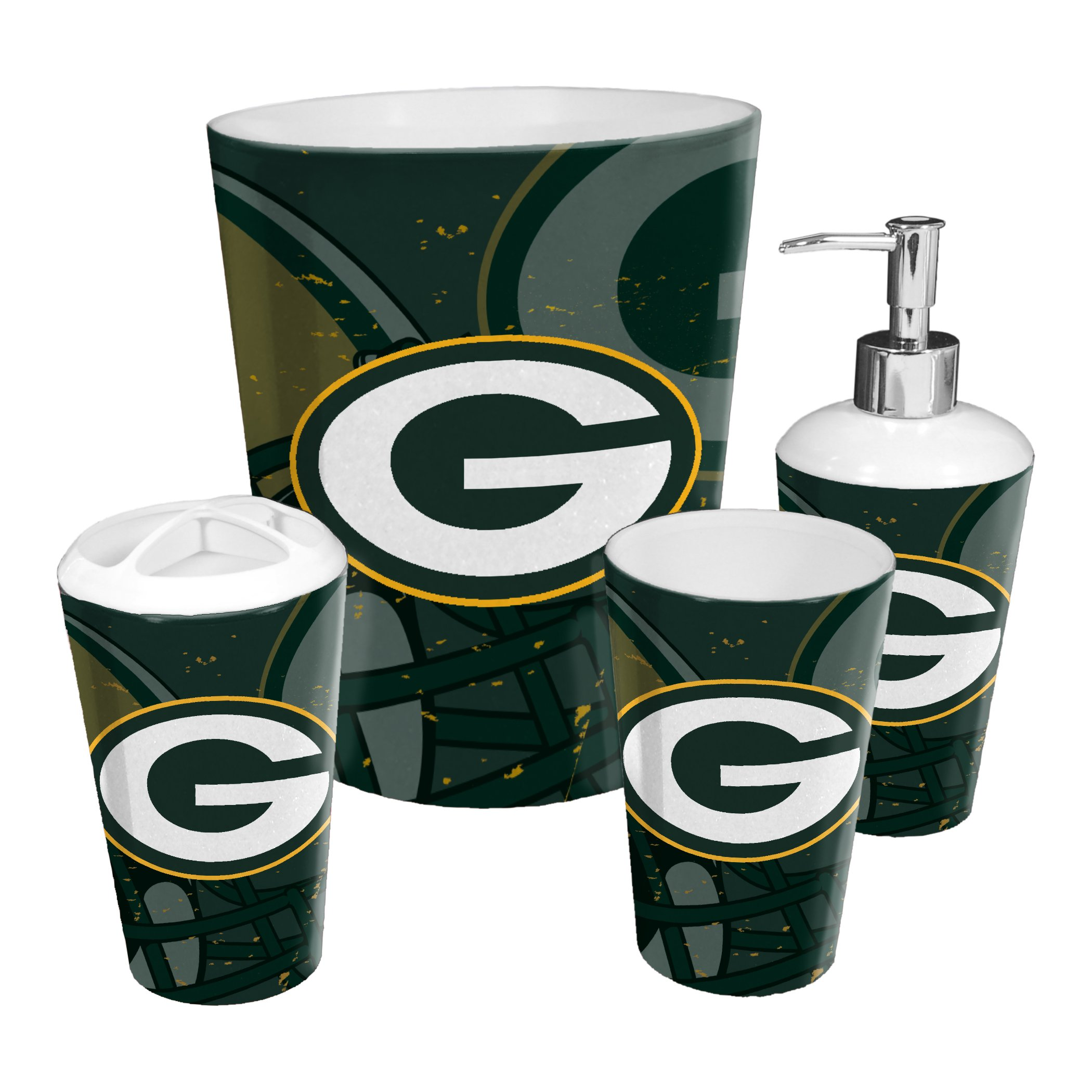 Packers Official 4 Piece Bath Set Bath Sets Packers Green Bay
