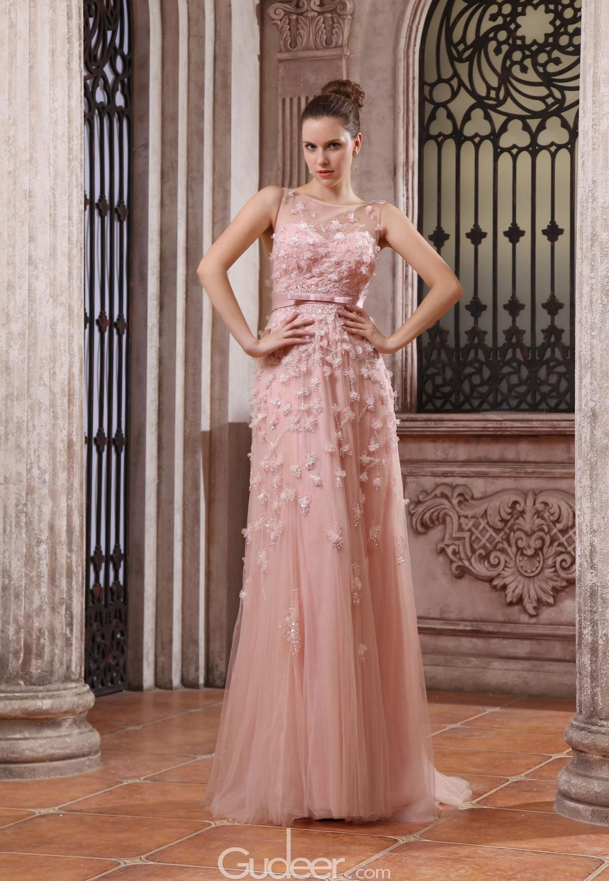 luxury peach tulle and chiffon sweetheart long evening prom dress. #weddingdresses #weddinggowns