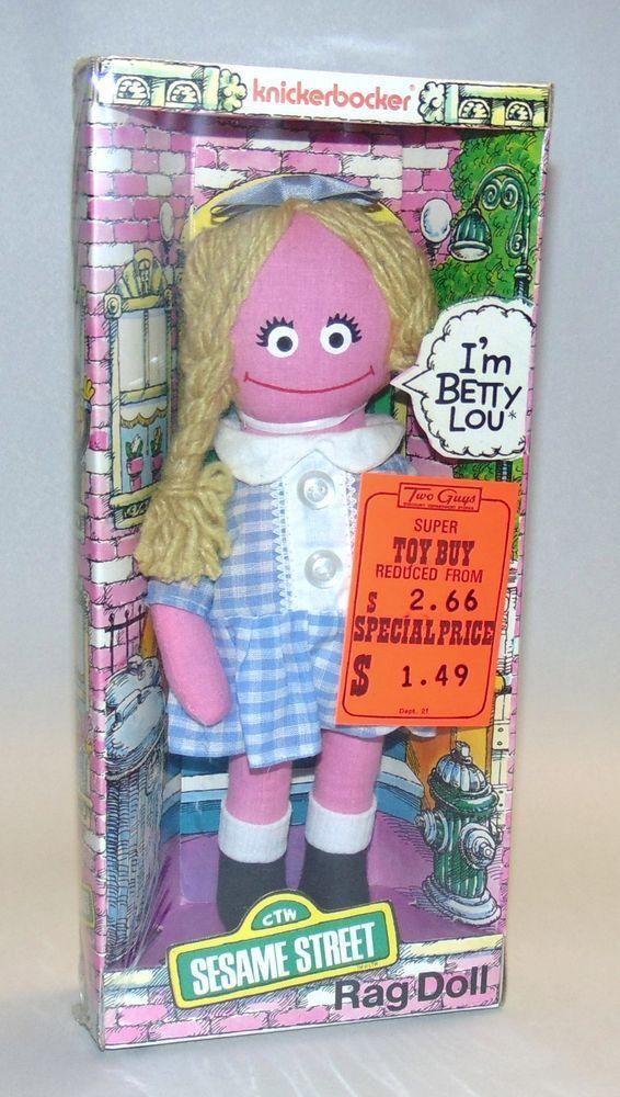 Vintage 1975 Muppets Knickerbocker Sesame Street Betty Lou Rag Doll Sealed Ebay Sesame Street Sesame Street Muppets Vintage Toys