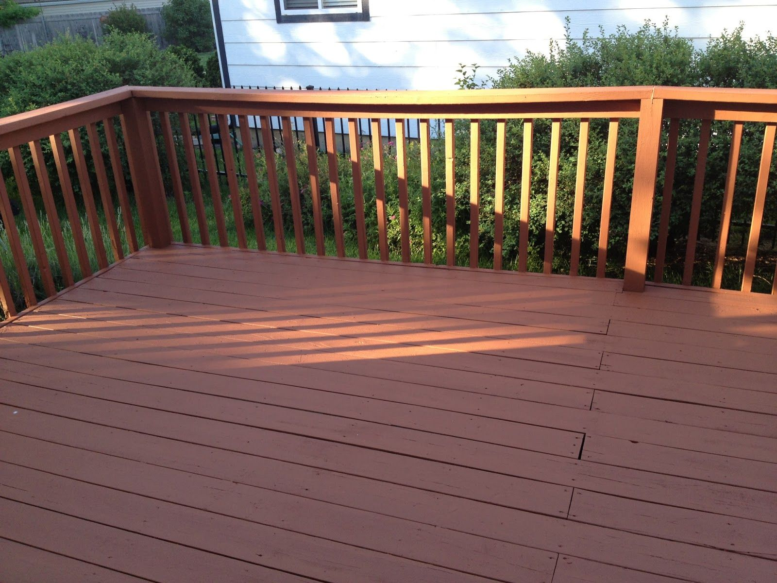 Behr deckover cappuccino solid color behr weatherproof for Deck paint colors home depot