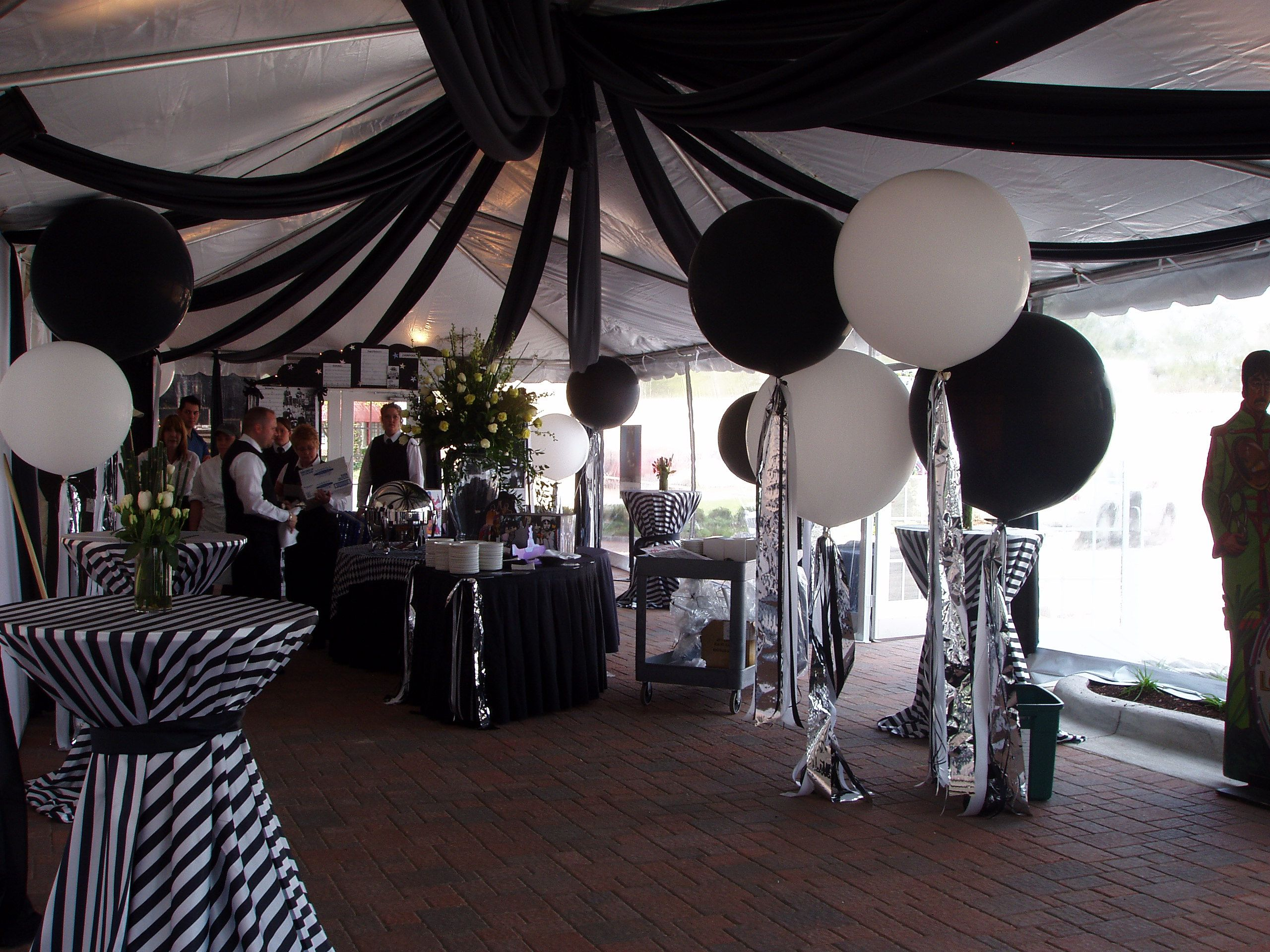 Black And White Decor 50th Birthday