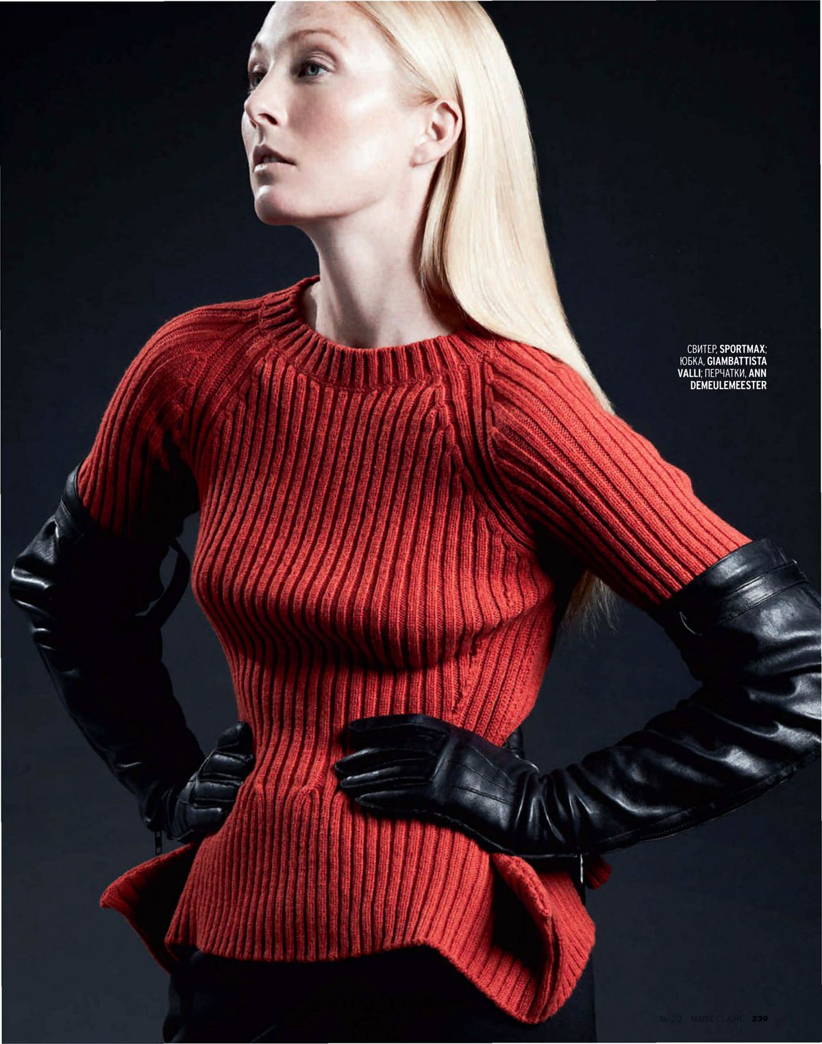 Ladies leather gloves cape town - Glove Fashion Maggie Rizer In Ann Demeulemeester Leather Opera Gloves Marie Claire Russia