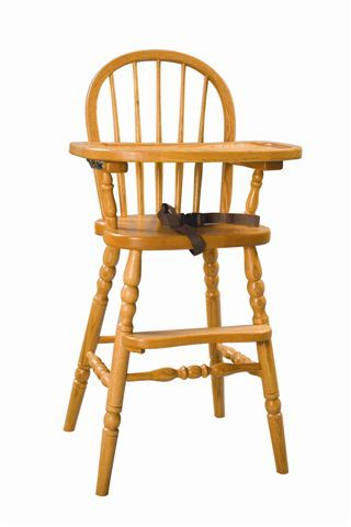 Amish American Made Bow Back High Chair | Amish Kids Chairs | Amish Kids  Playroom Furniture