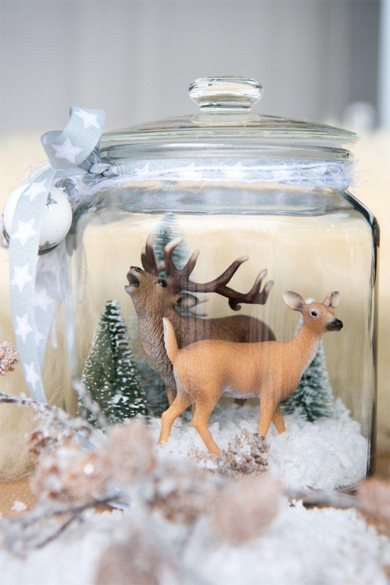 Wir Basteln Eine Winterlandschaft Weihnachten Im Glas Deko