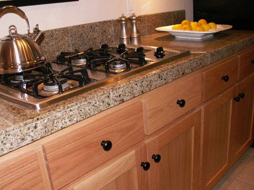 Best Tiles For Kitchen Countertops Oak Cabinets With Granite Tile Counter Tops A