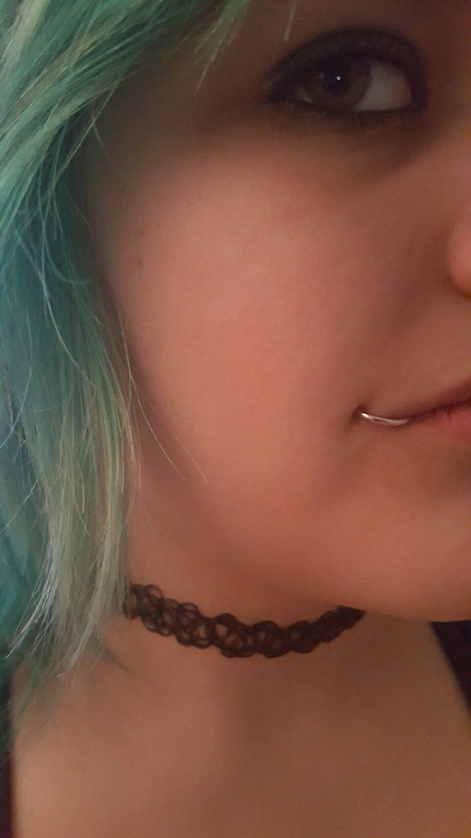Fish Hook Lip Piercing Lip Piercing Piercings Nose Ring