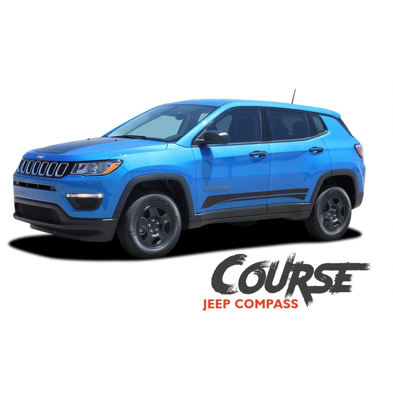 Jeep Compass Course Lower Rocker Door Body Line Accent Vinyl