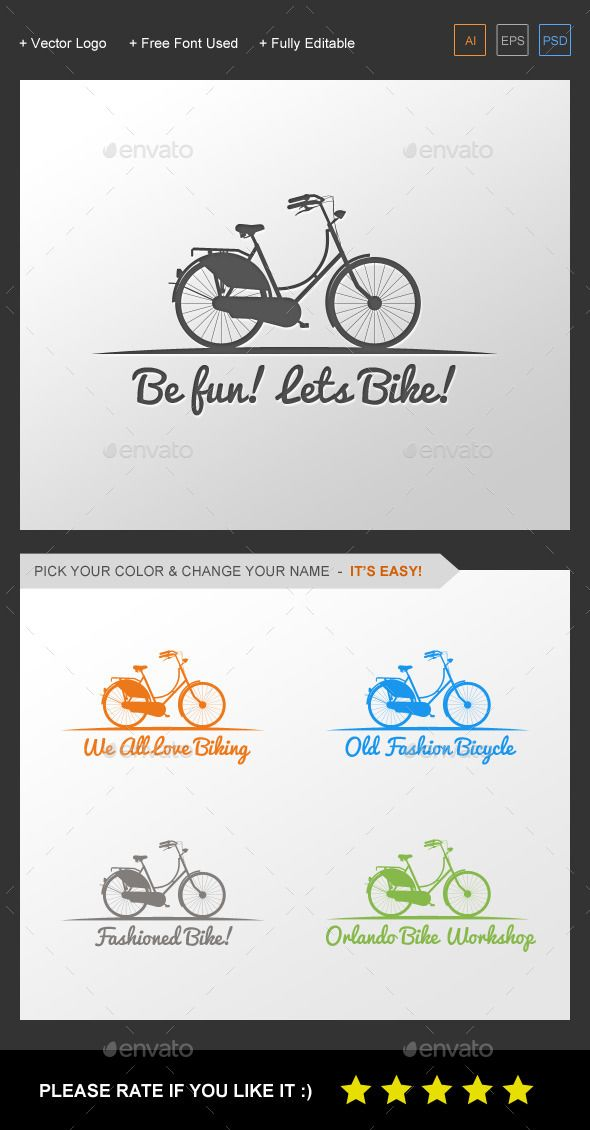 Bicycle Logo Template Objects Logo Templates For Only 29 Need