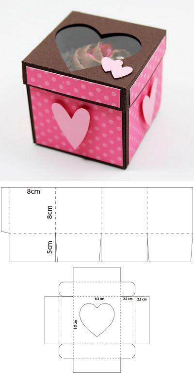Caja con onditas para 1 cupcake | moodsocal.ml #scrapbook