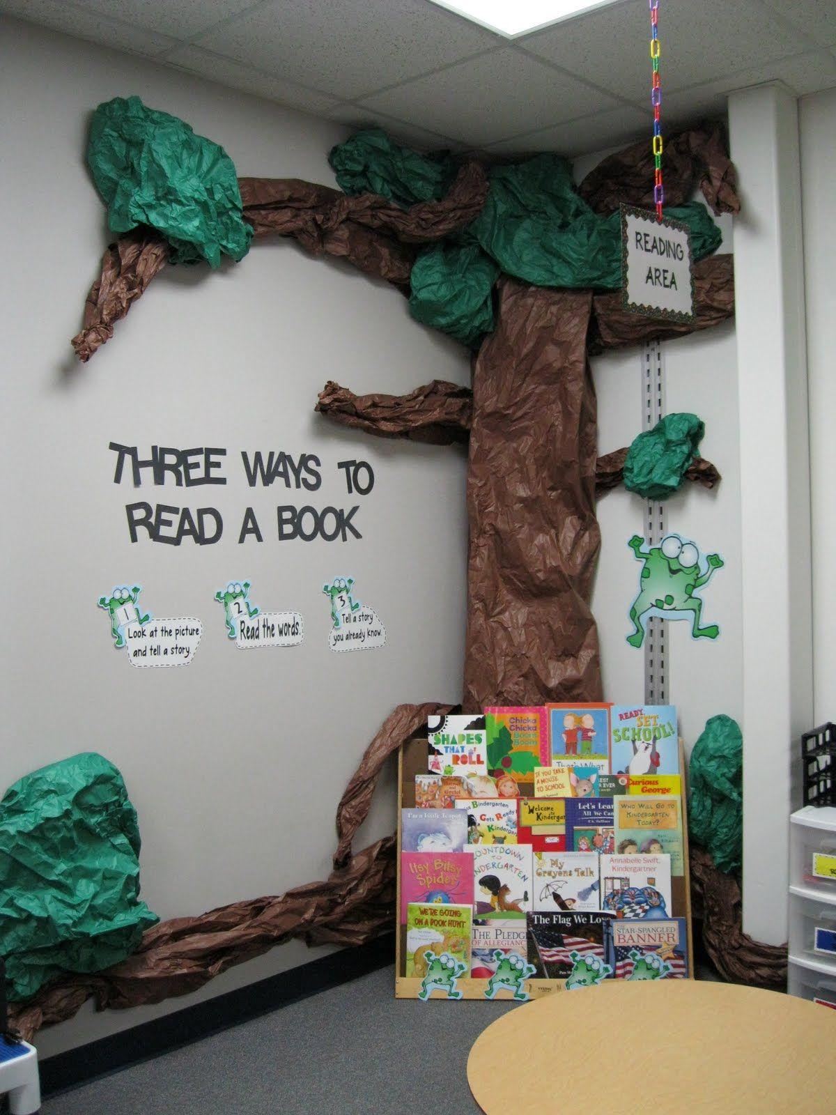 Cute reading corner Via: Kindergarten Rocks!: Classroom ...
