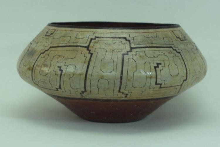 Extraordinay Large Vintage Shipibo Indian Pottery Bowl Ca 1950 S 1362 Pottery Bowls Pottery Indian Ceramics