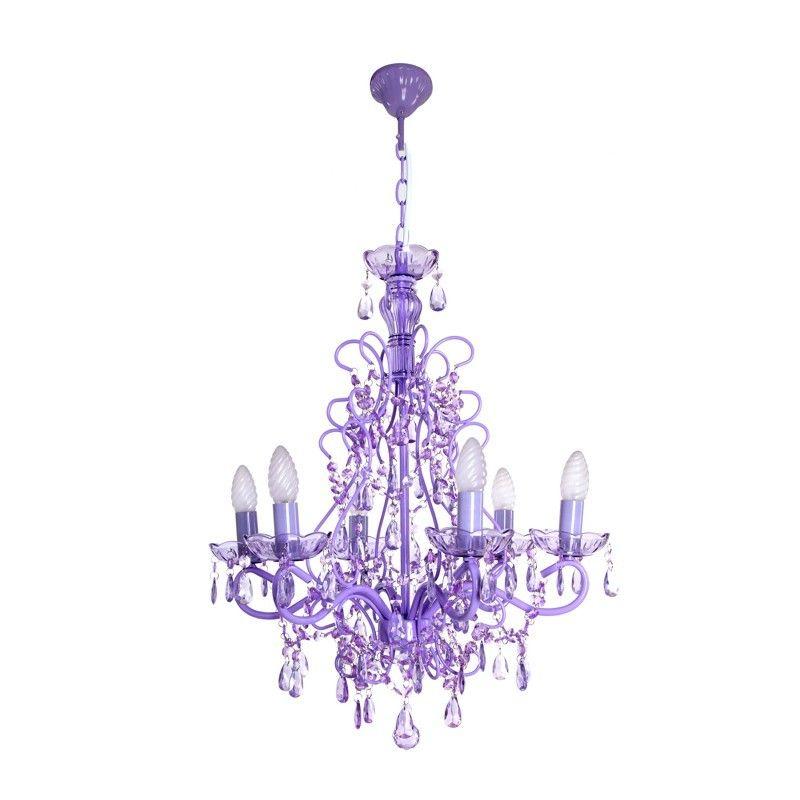 Lámparas de techo colgantes clásicas violetas | Blog Decoración ...