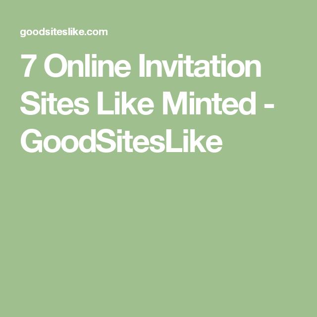 7 Online Invitation Sites Like Minted Goodsiteslike English