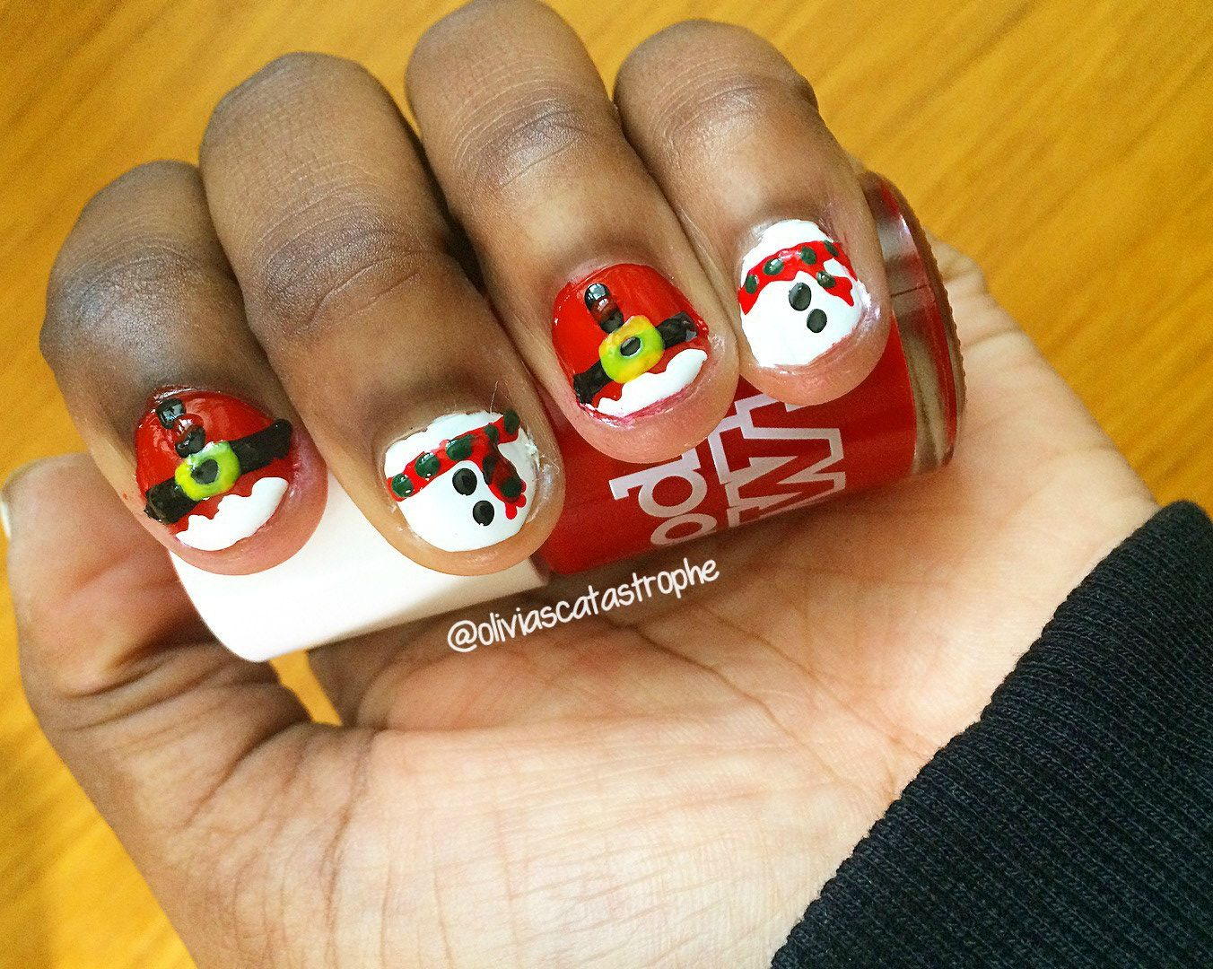 Santa & Snowmen [Nails Extravaganza!] | Snowman nails
