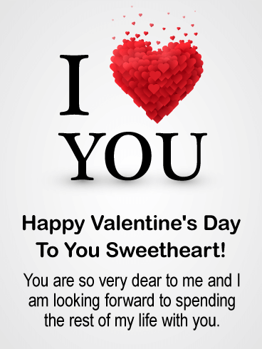 To My Sweetheart Happy Valentine S Day Card For Him Birthday Greeting Cards By Davia Happy Valentines Day Card Valentines Day Wishes Happy Valentines Day