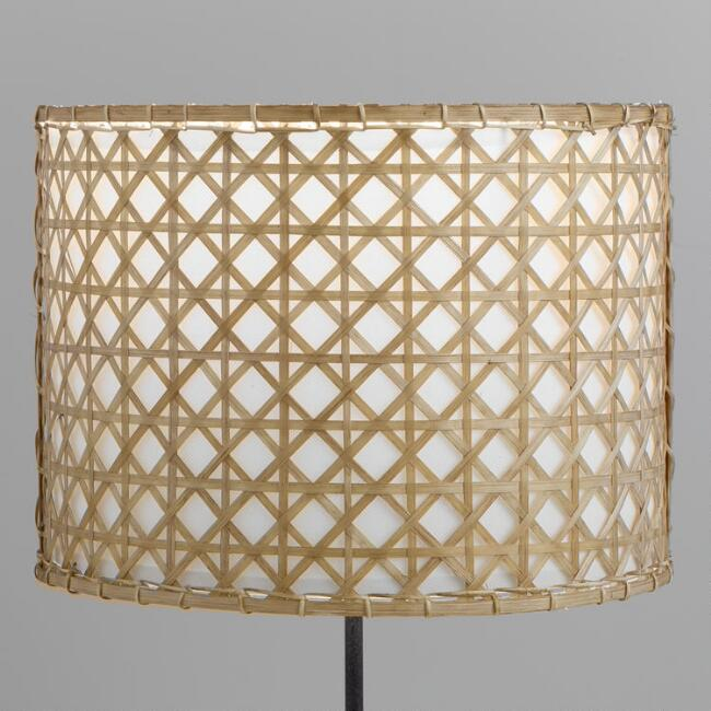 Bamboo And Rattan Drum Table Lamp Shade V1