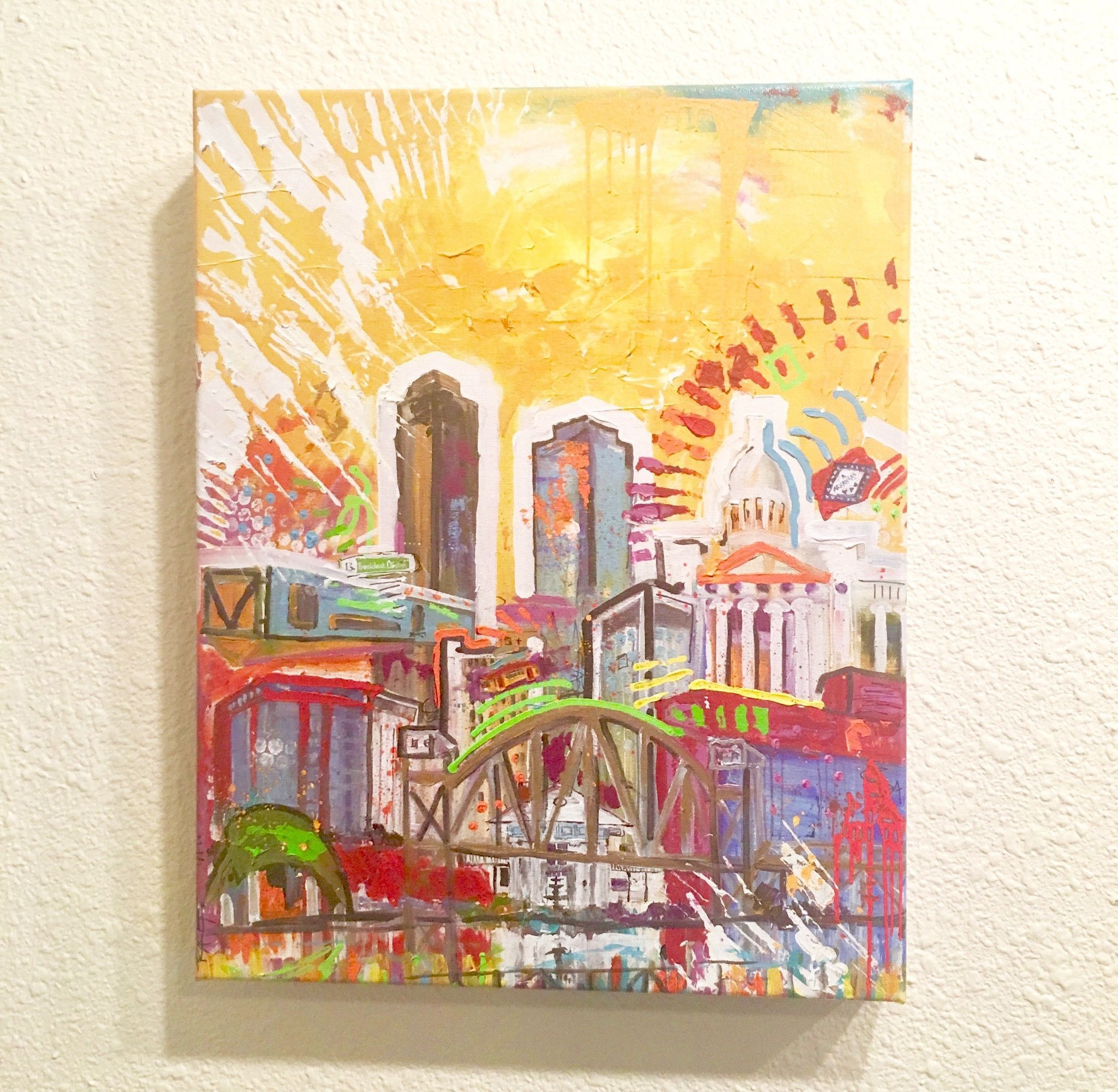 "Archival Print on Canvas stretched and ready to hang 14""x11"" 017"