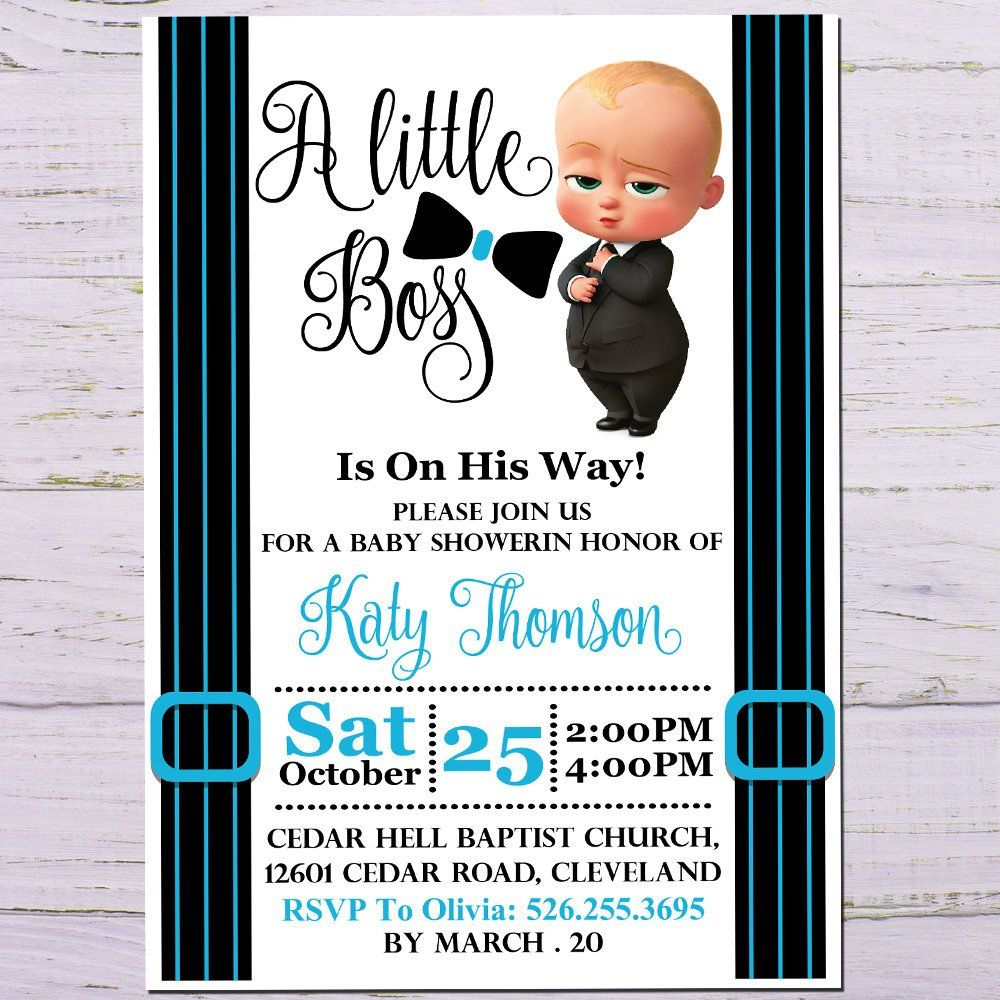 7933527d859c6 Boss baby baby shower invitation African american boss baby