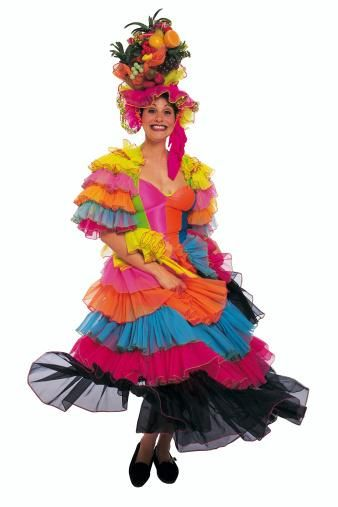 Carmen Miranda Style Baiana Costume Dress Brazil Is Known Internationally For Its Vibrant Showy And Suggestive Clothing Like The Carnival S Worn