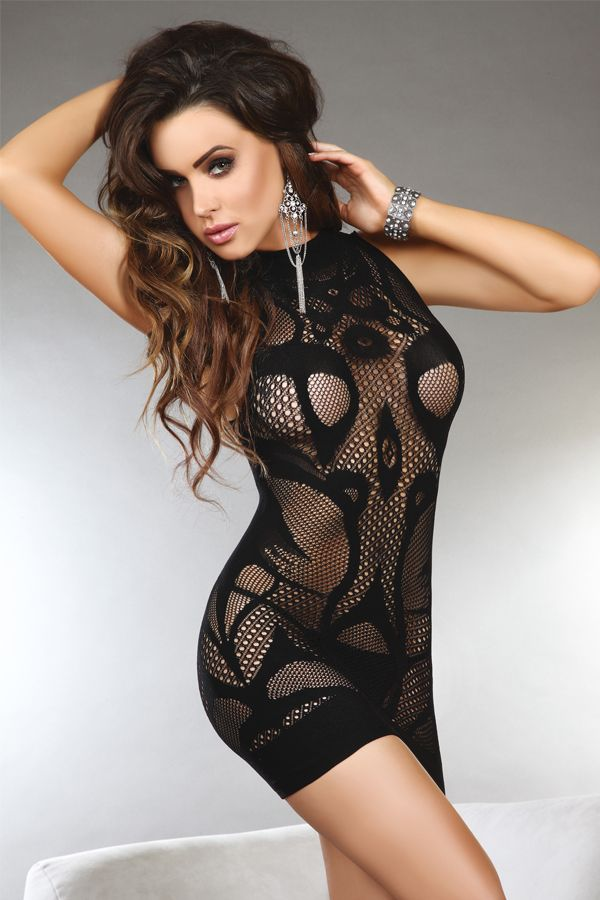 sexy fishnet dress, love this :) | Gymbarbie