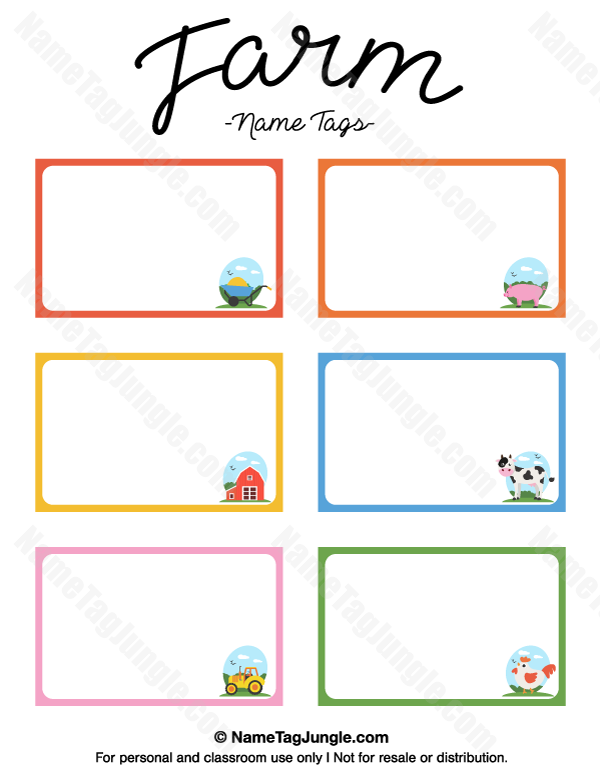 place tags template