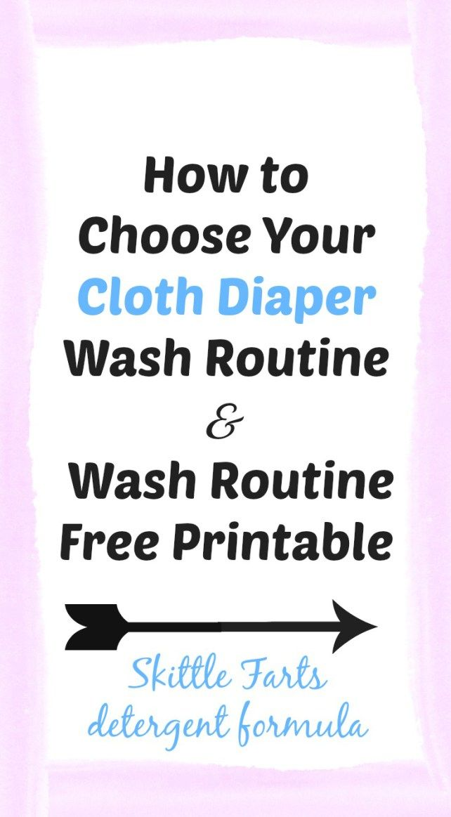 How to choose a cloth diaper wash routine that is right for your family and a free wash routine printable to help everyone remember the crucial washing steps.