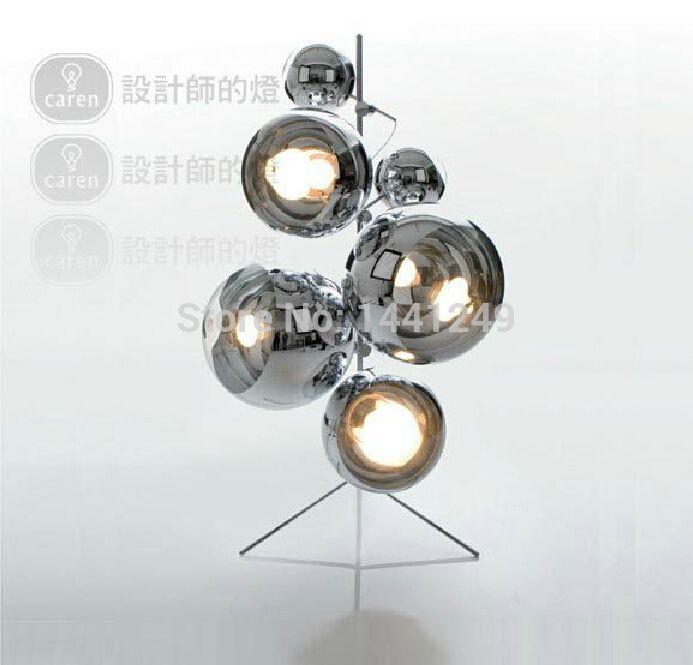 Tom New Modern Chrome Mirror Dixon Ball Floor Lamp Tree Floor Lamp Floor Lamp Chrome Mirror