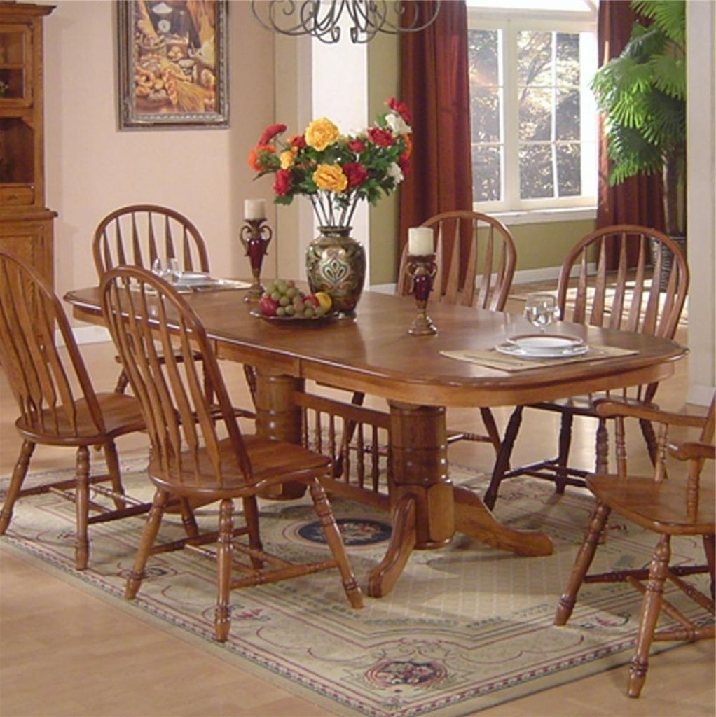 Captivating Oak Dining Room Set  Dining Room  Pinterest  Oak Magnificent Oak Dining Room Table Decorating Design