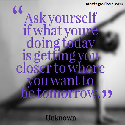 Where Do You Want To Be Tomorrow? #motivation #quote #inspiration