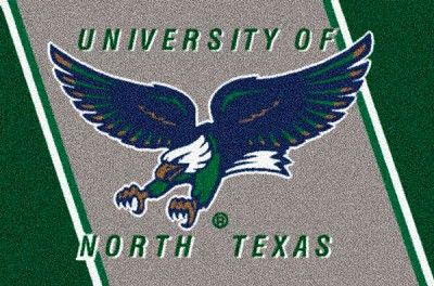 University of North Texas Logo Area Rug