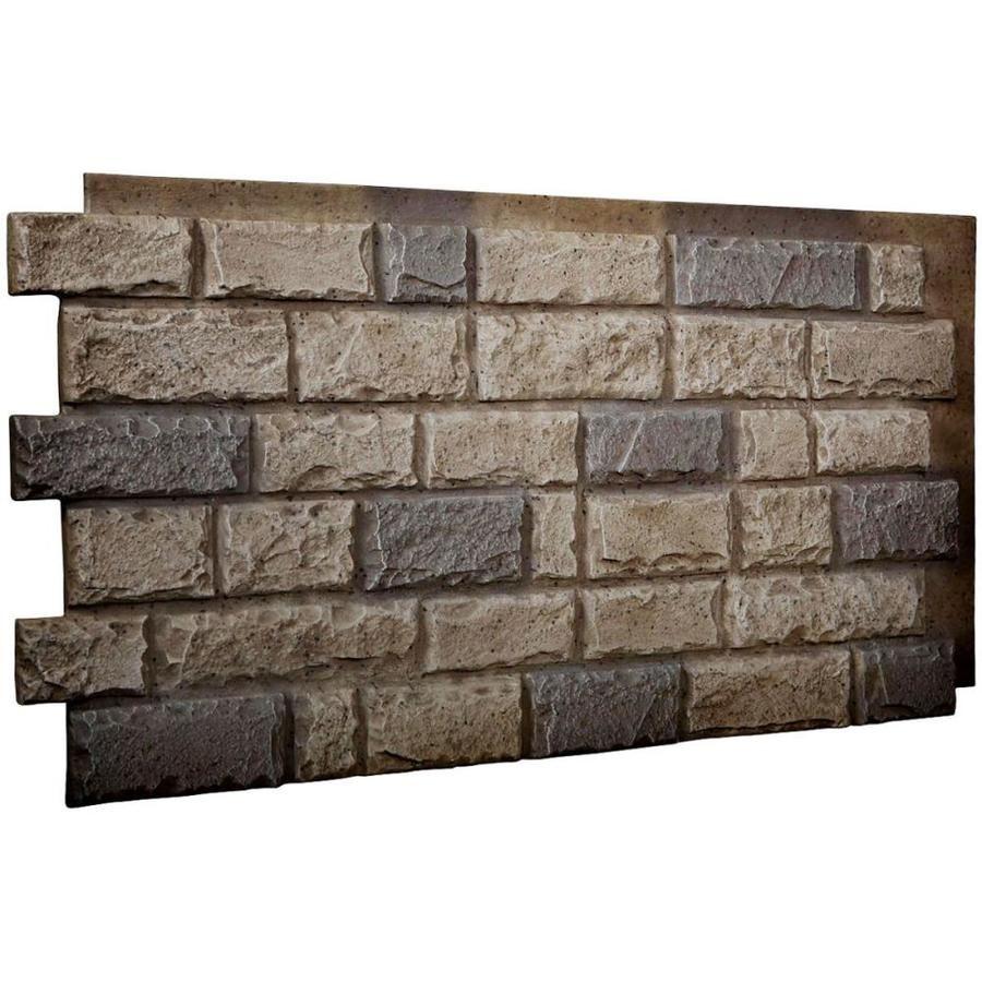 Ekena Millwork Faux Stone Siding 8 33 Sq Ft Platinum Faux Stone Veneer Pn203nrpl In 2020 Faux Stone Walls