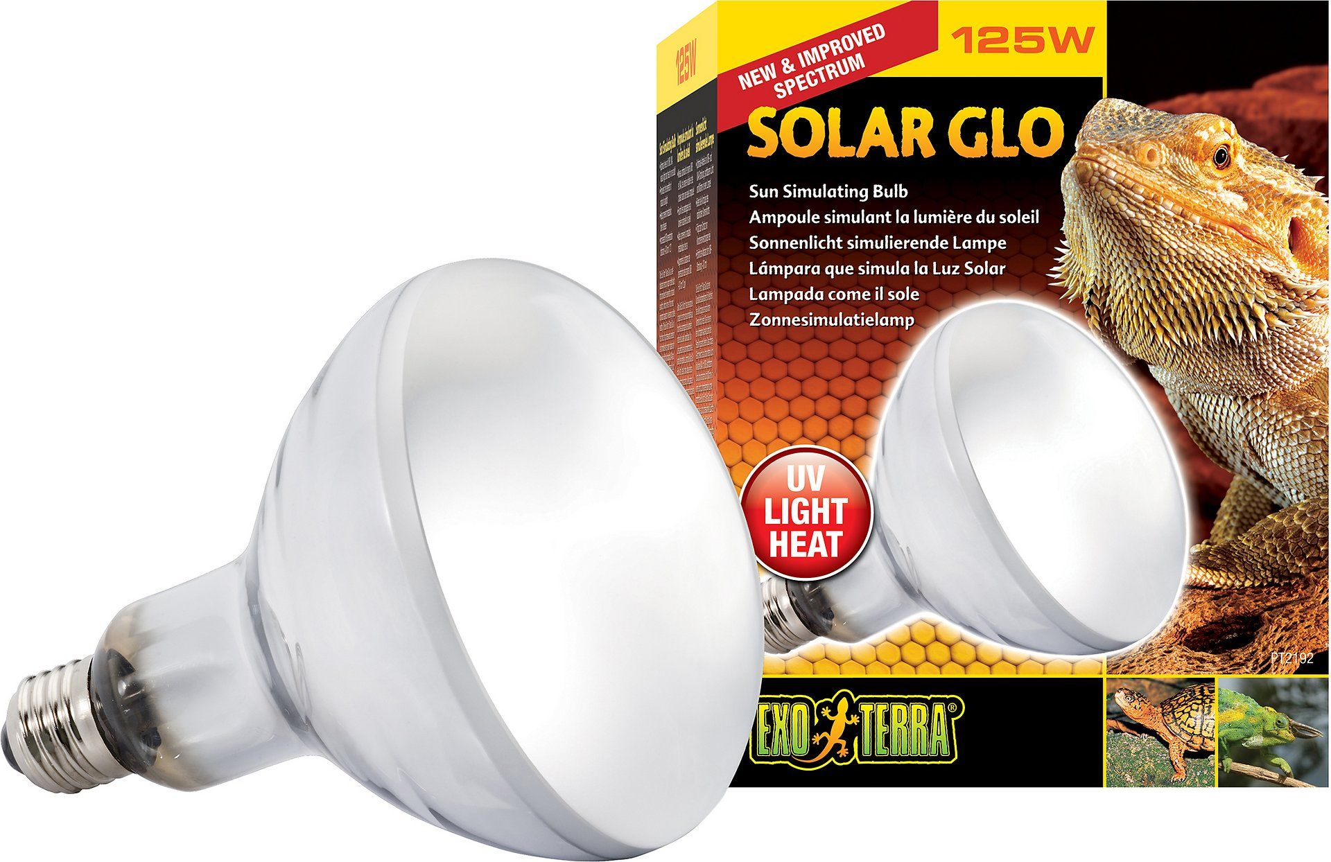 Exo Terra Solar Glo All In One Reptile Lamp 160 W Bulb Chewy